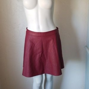 Abercrombie & Fitch faux leather skirt EUC